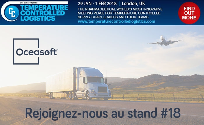 Rejoignez OCEASOFT au Temperature Controlled Logistics 2018