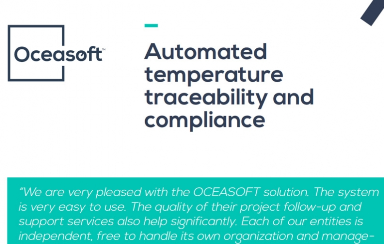Automated temperature traceability and compliance by OCEASOFT for HEGP