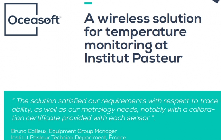 Institut Pasteur: a wireless solution for temperature monitoring by OCEASOFT